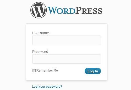 Wordpress Admin Login Screen