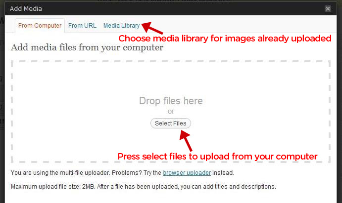 Add new media to WordPress