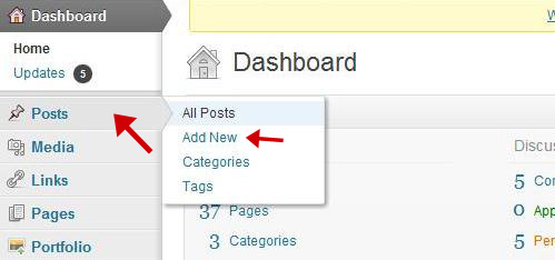how to add a new post to WordPress