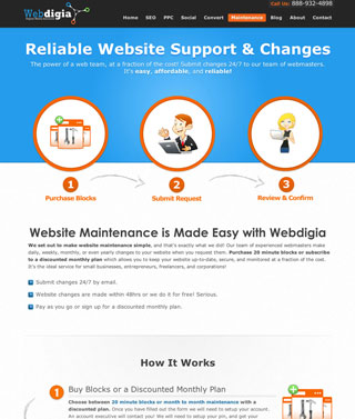 New website maintenance landing page